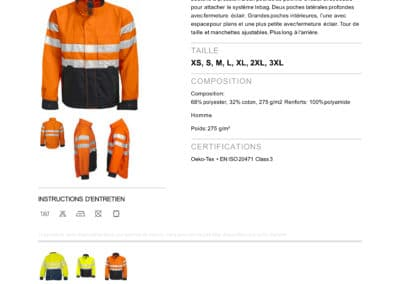 ProJob 6401 VESTE DE PROTECTION EN ISO 20471 CLASSE 3
