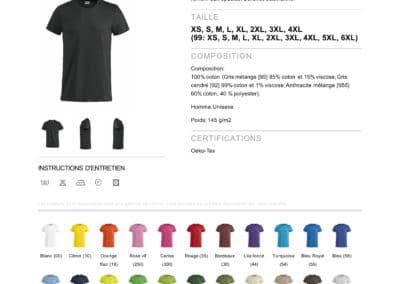 Tee-shirt 029030 Clique Basic-T