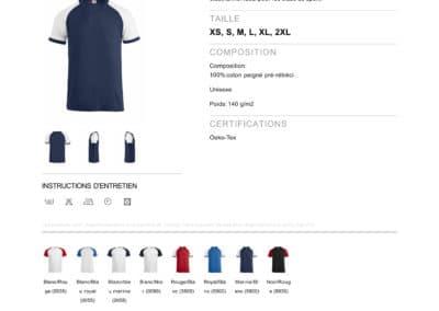 Tee-shirt 029326 CliqueRaglan-T